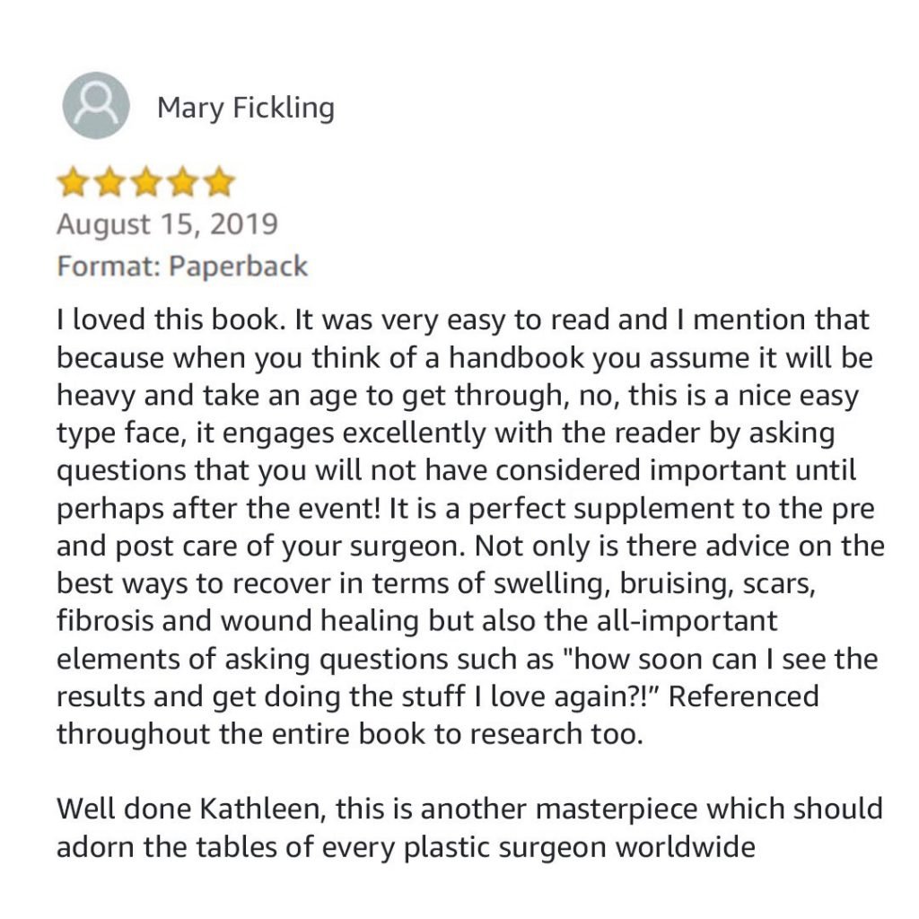 Review for plastic surgery recovery handbook